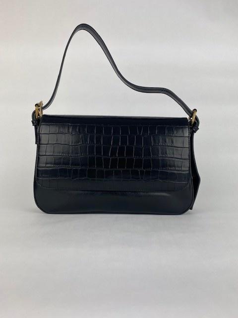 Hatice croco bag Black-2