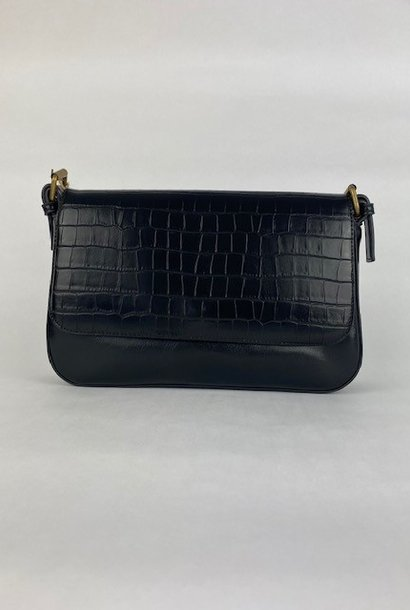 Hatice croco bag Black