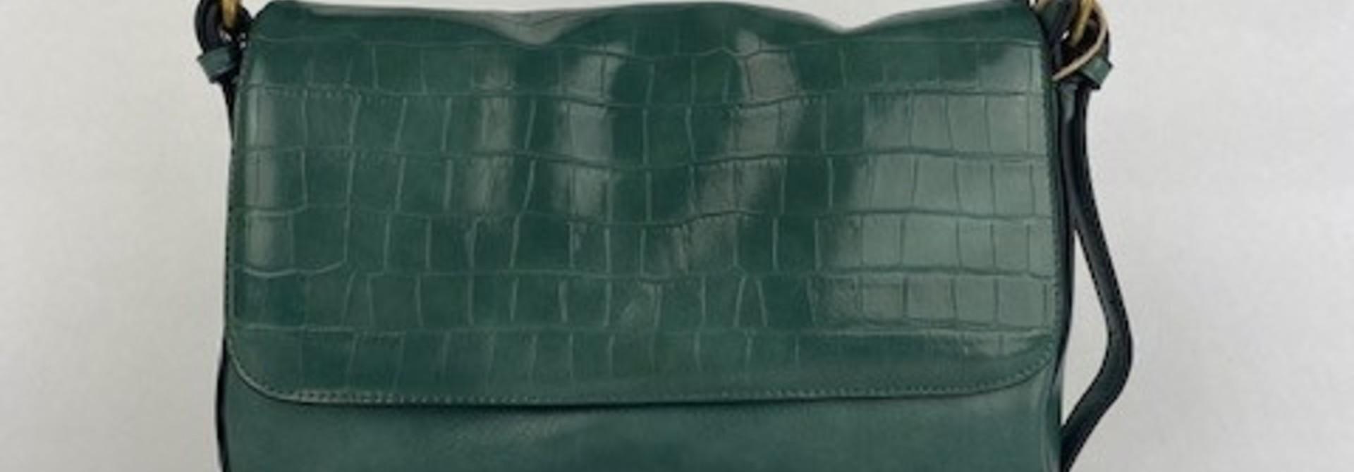 Hatice croco bag Ash Green