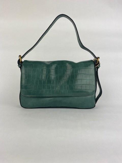 Hatice croco bag Ash Green-1