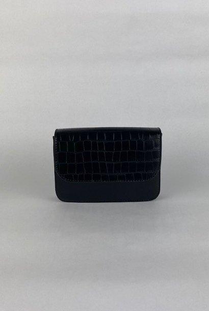 Hailey croco bag Black