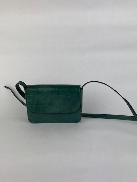 Hailey croco bag Ash Green-2