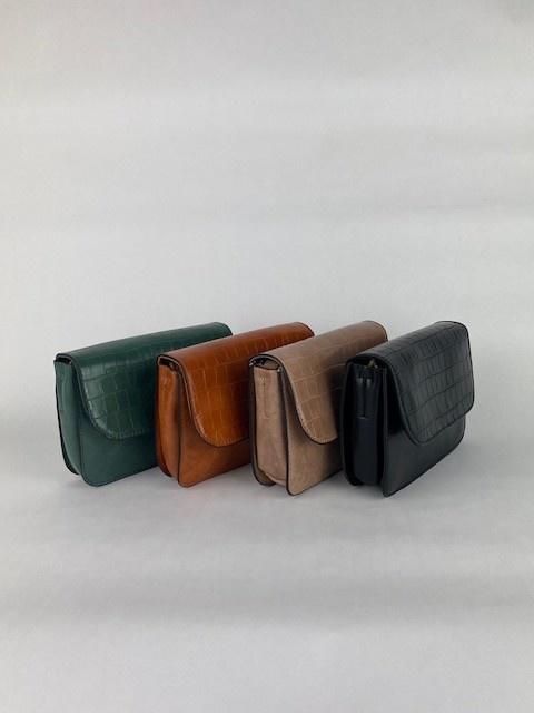 Hailey croco bag Camel-3