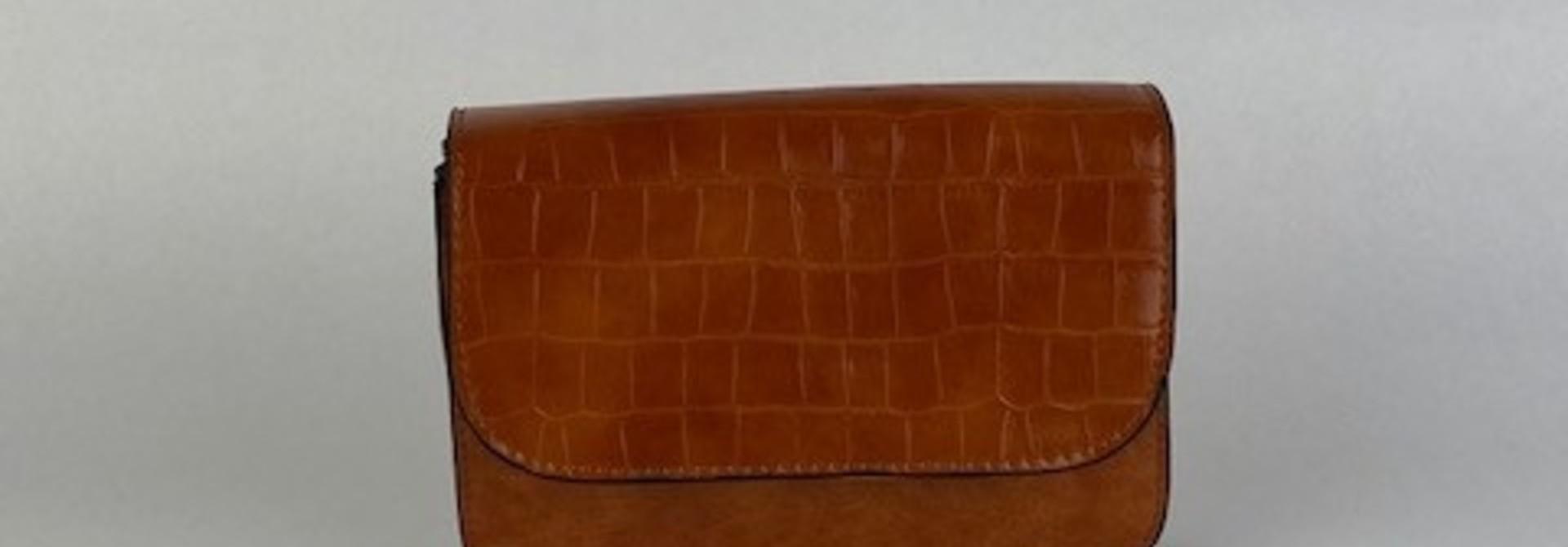 Hailey croco bag Camel