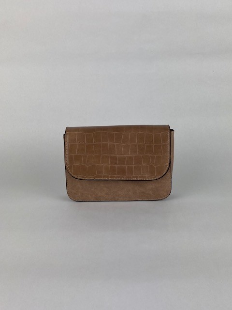 Hailey croco bag Taupe-1