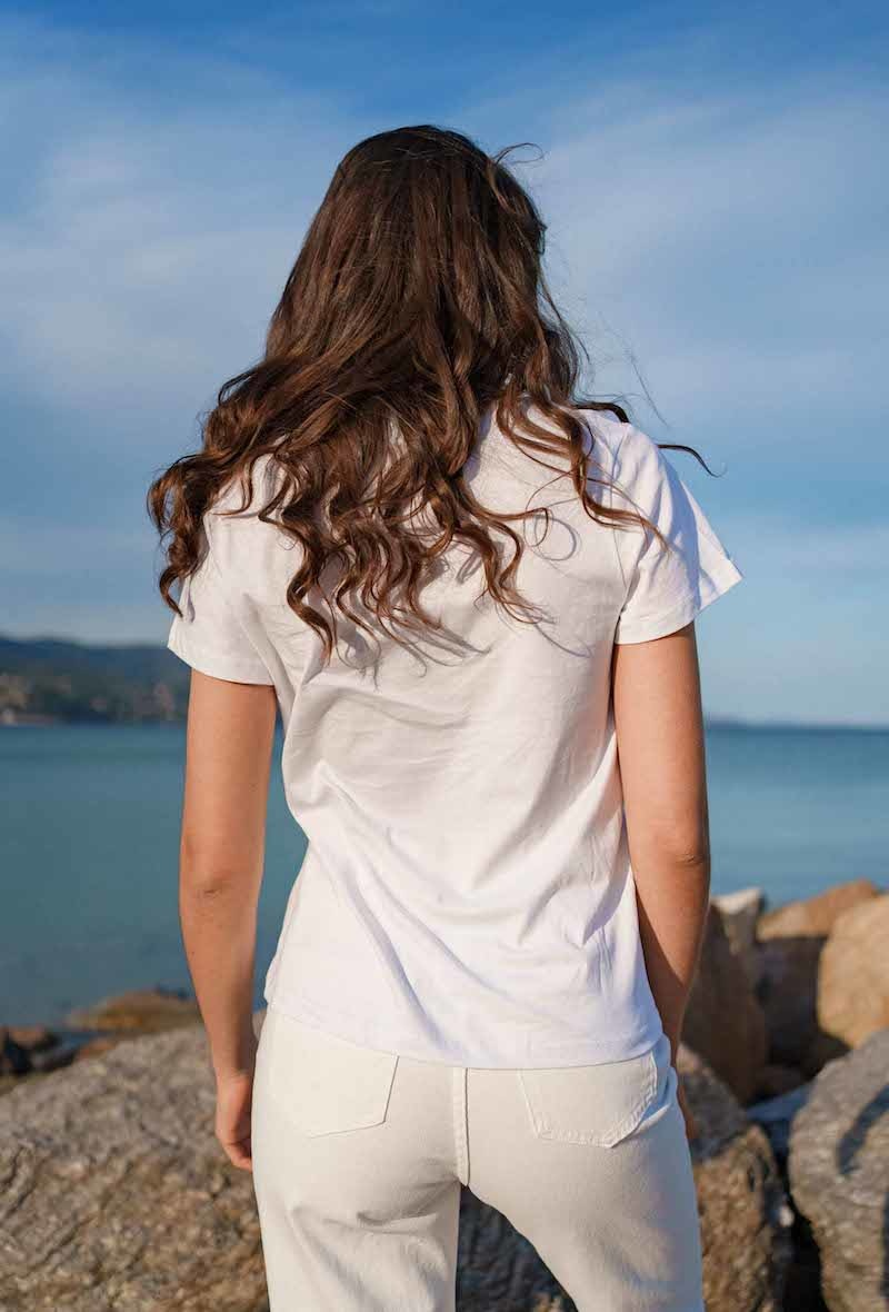 Chanae cotton t-shirt White-3