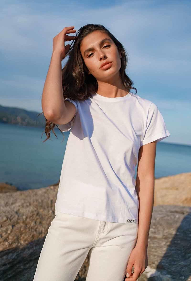 Chanae cotton t-shirt White-1