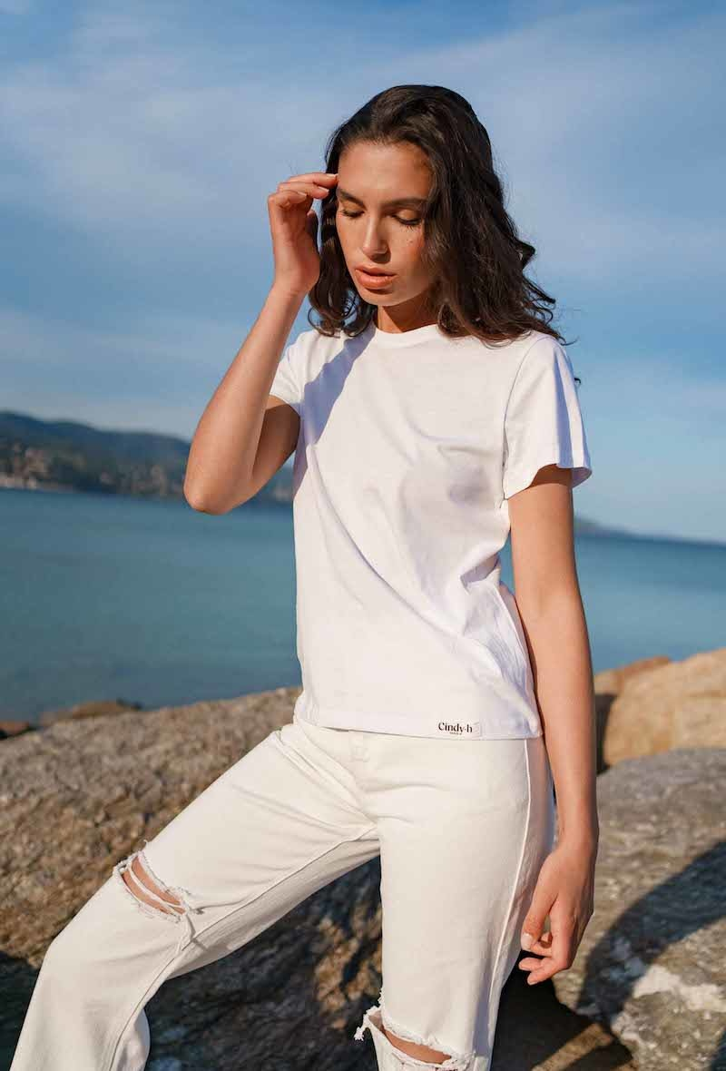 Chanae cotton t-shirt White-2