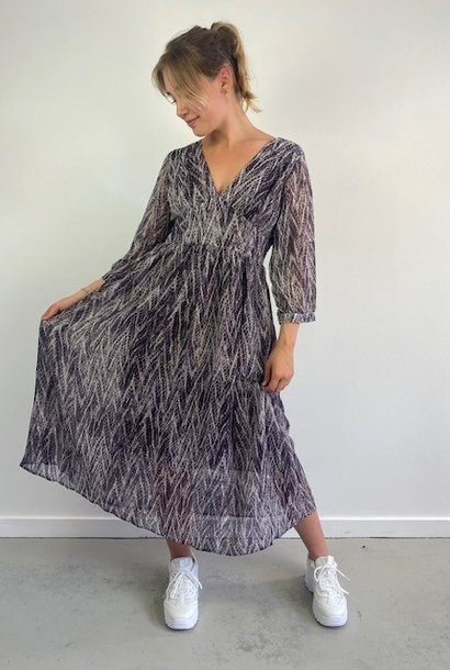 Belinay batic sneak midi dress Purple
