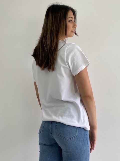 Chanae cotton t-shirt White-4