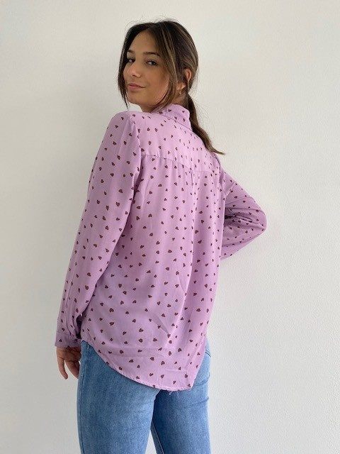 Loavi hearts blouse Purple-2