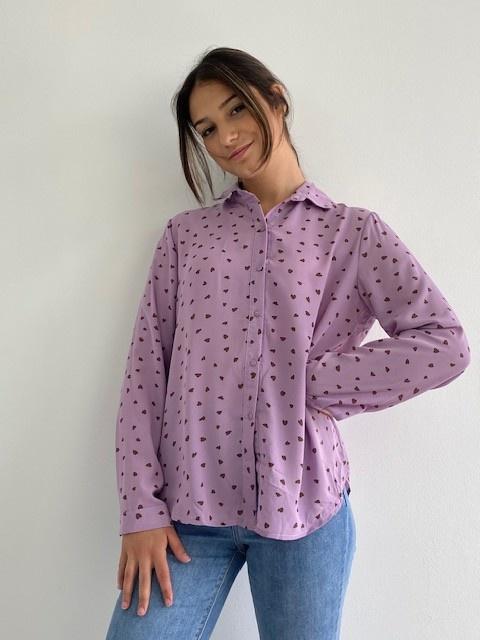 Loavi hearts blouse Purple-3