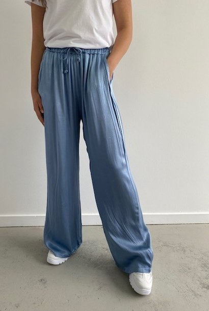 Candys satin wide pant Blue