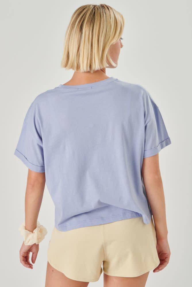 Kimeo essential t-shirt Lavendel Blue-2