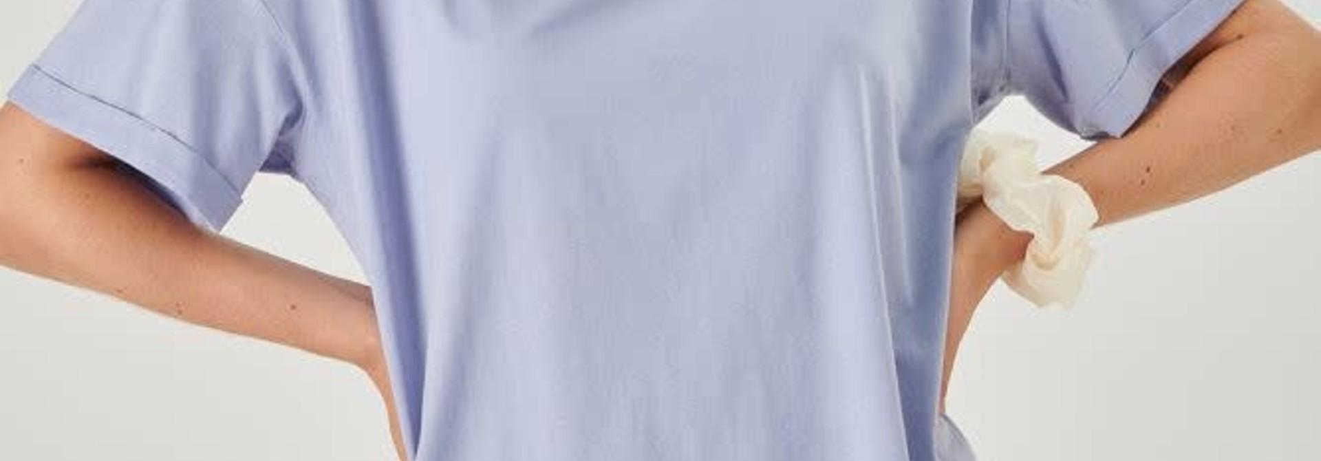 Kimeo essential t-shirt Lavendel Blue