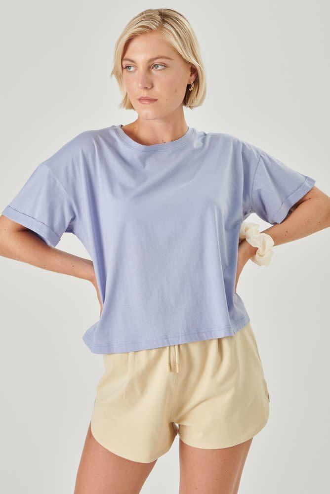 Kimeo essential t-shirt Lavendel Blue-1
