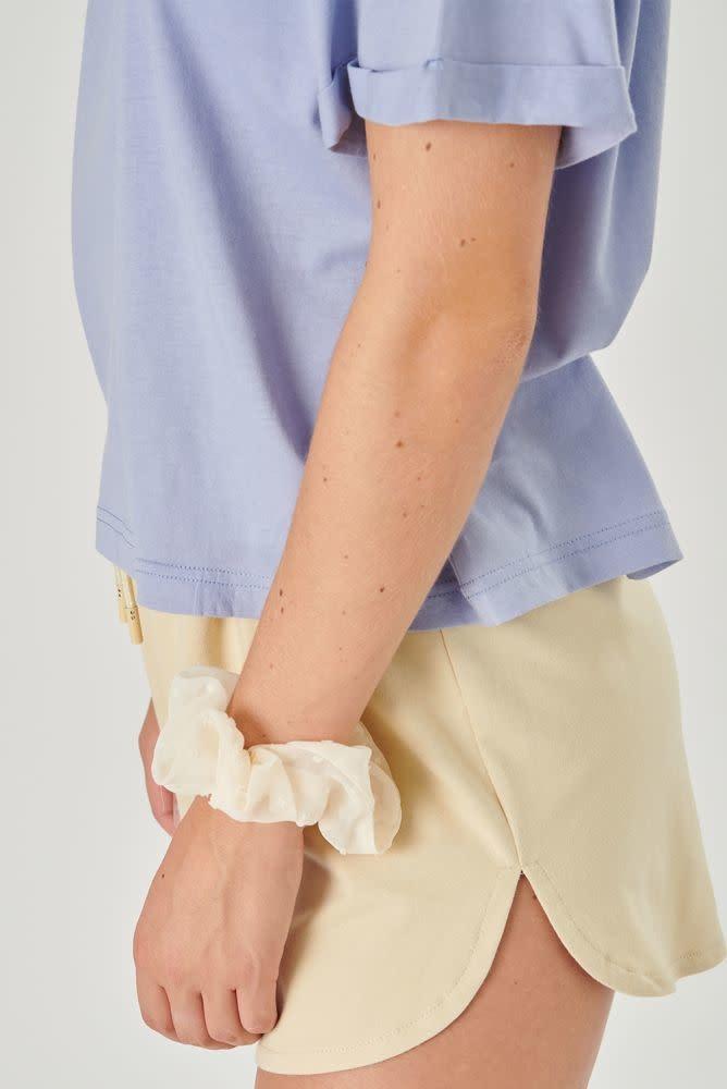 Kimeo essential t-shirt Lavendel Blue-3
