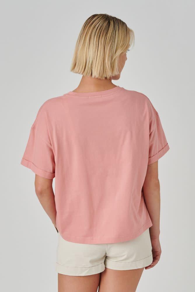 Kimeo essential t-shirt Rose-2