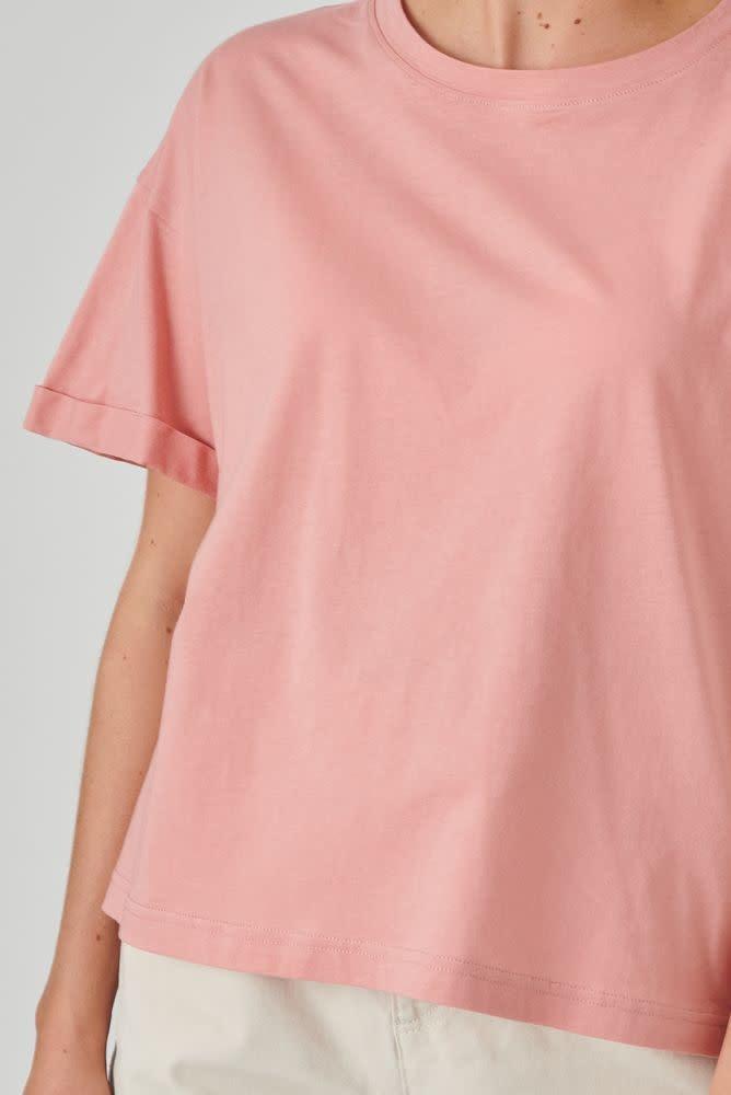 Kimeo essential t-shirt Rose-3