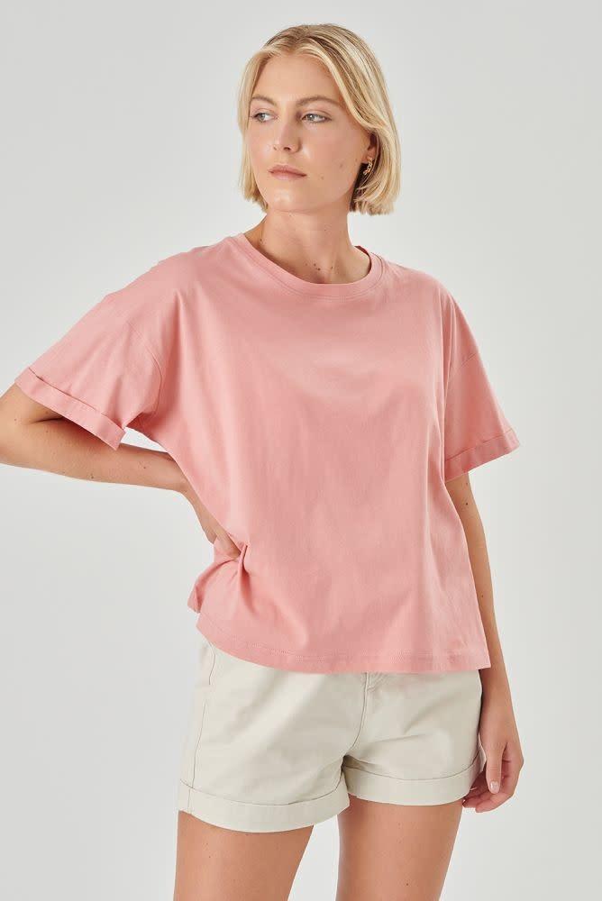Kimeo essential t-shirt Rose-1