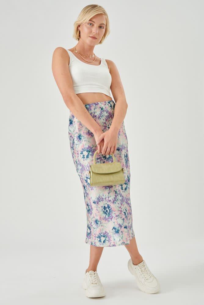 Thetis midi satin skirt Multi-3