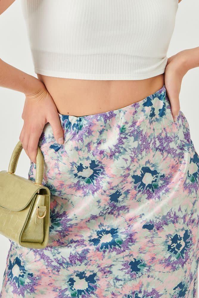 Thetis midi satin skirt Multi-2
