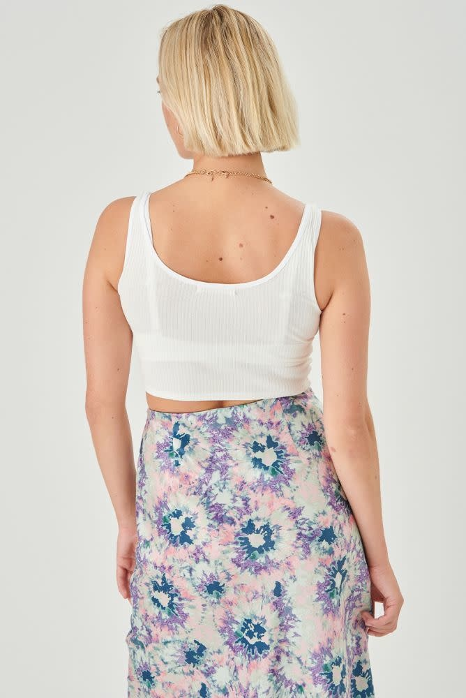Thetis midi satin skirt Multi-4
