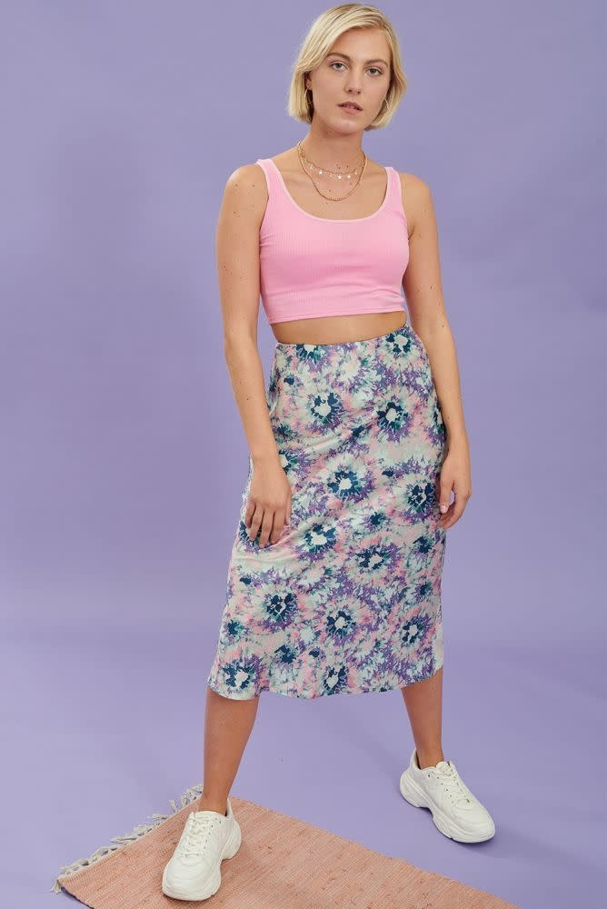 Thetis midi satin skirt Multi-1