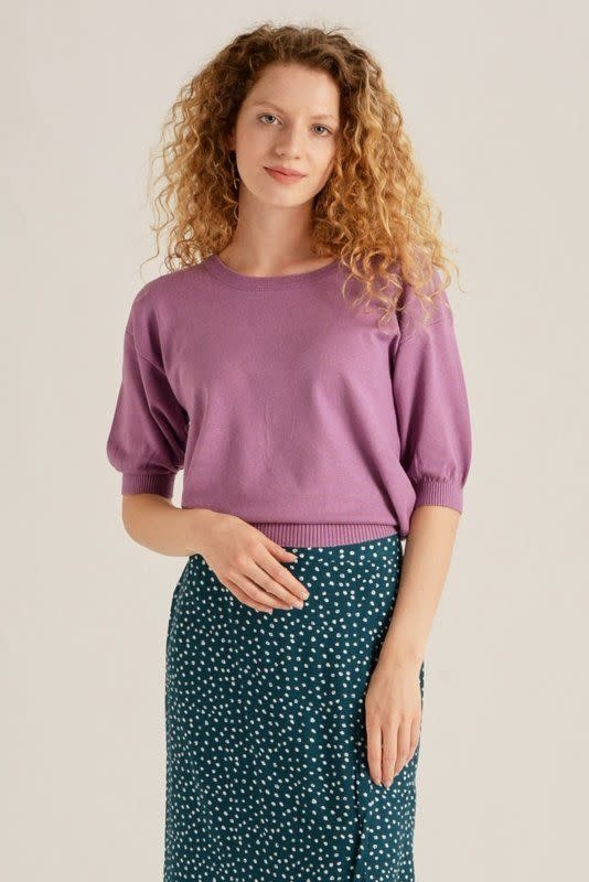 Lolita knitted s/s pullover Violet-1