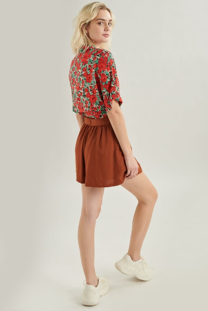 Brenna loose short Brown-3