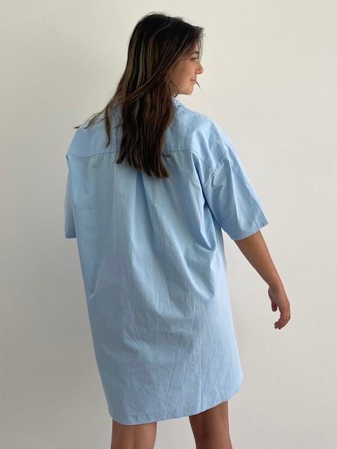 Tammy oversized shirt Light Blue-5