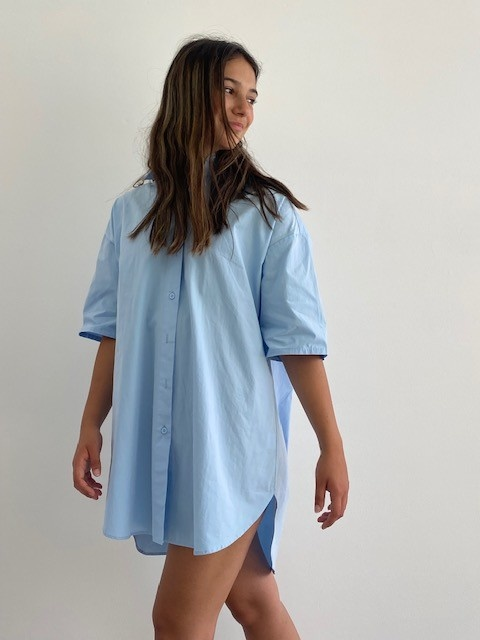 Tammy oversized shirt Light Blue-6