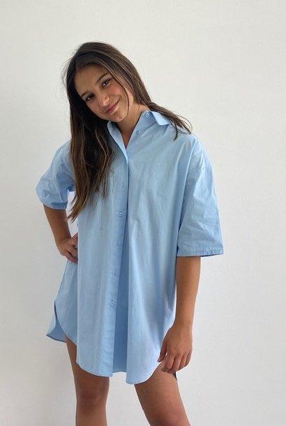 Tammy oversized shirtdress Light Blue