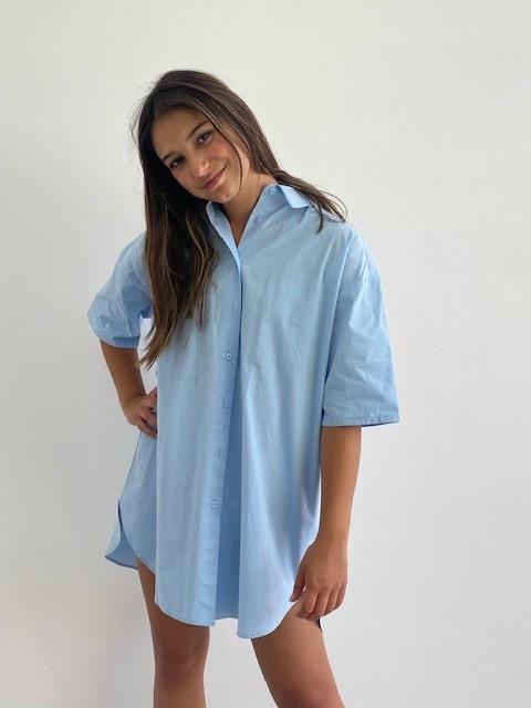 Tammy oversized shirt Light Blue-4