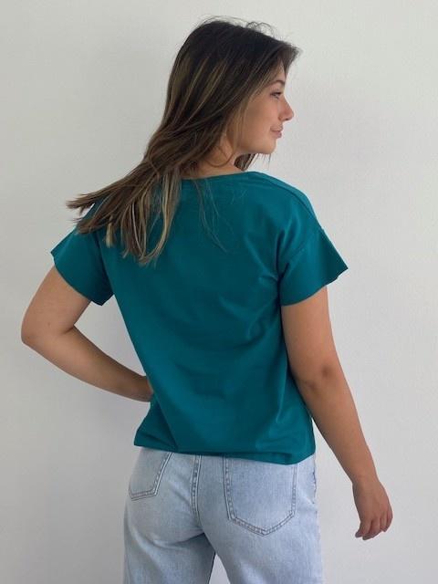 Jacky essential t-shirt Petrol-3