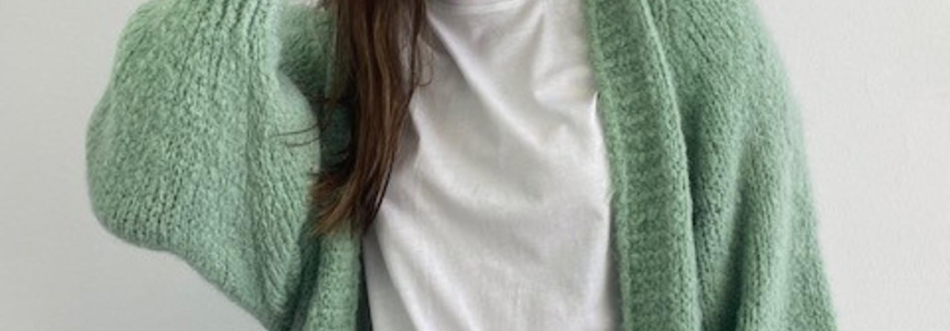 Sohvi short bernadette ballon sleeve  Blossom Green