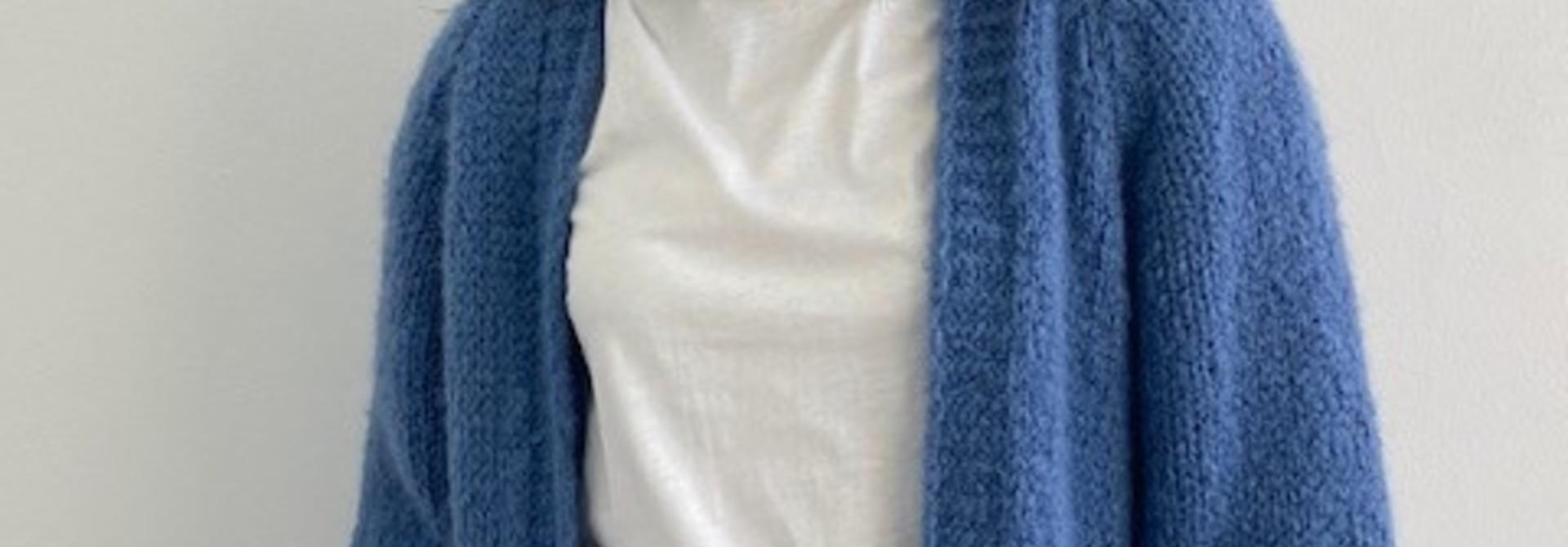 Sohvi short bernadette ballon sleeve Denim Blue