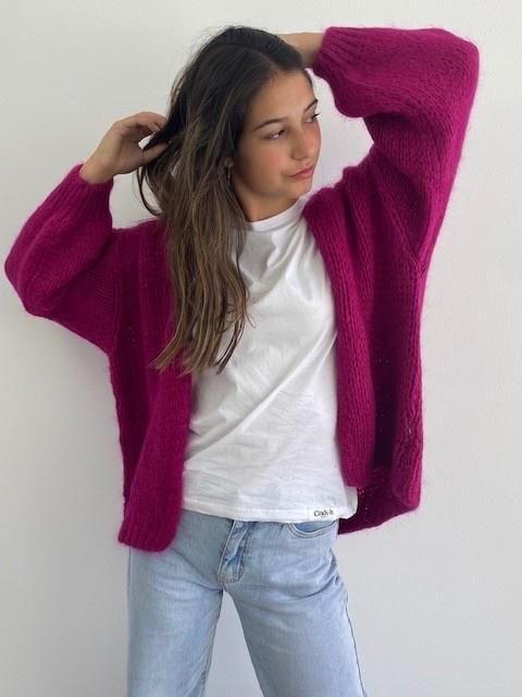 Jelisa oversized short bernadette Violet-1