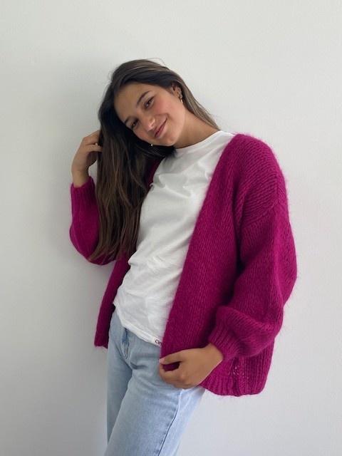 Jelisa oversized short bernadette Violet-3