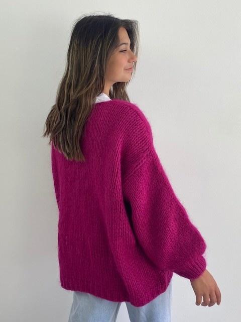 Jelisa oversized short bernadette Violet-2