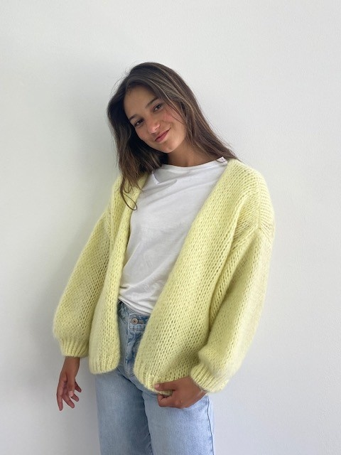 Jelisa oversized short bernadette Soft Yellow-3