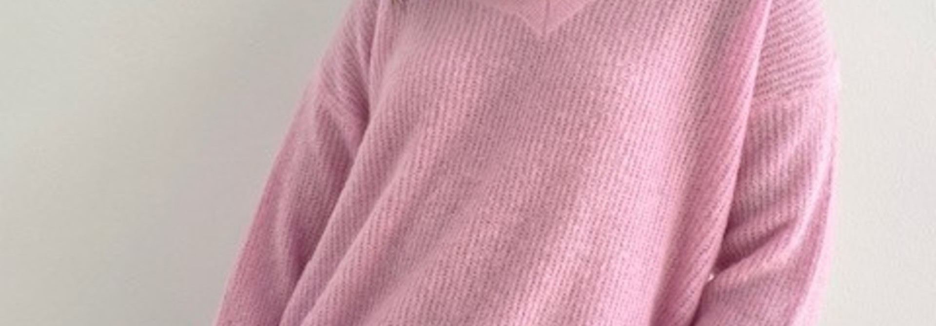 Louna v-neck knitted pull Mellow Pink