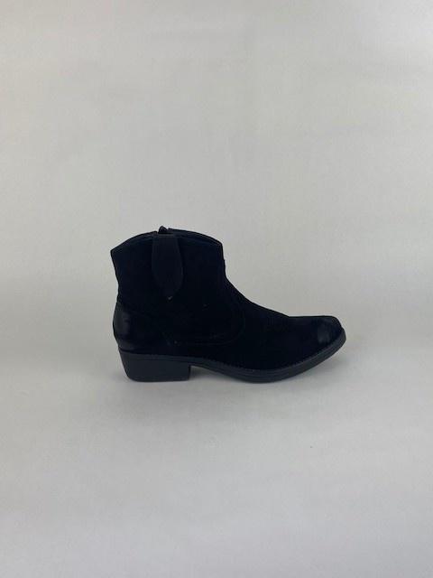 Cewe ankle cowboy boots Black-1