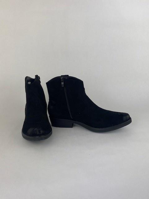 Cewe ankle cowboy boots Black-3