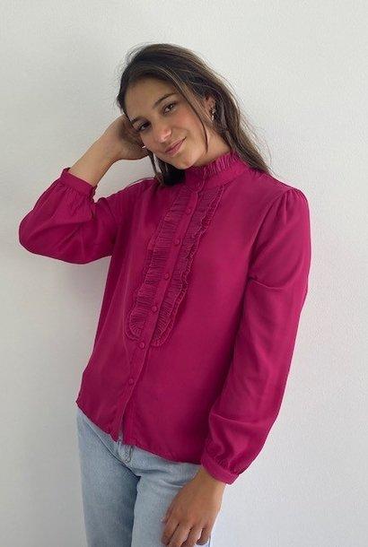 Sarhia bavet blouse Fushia