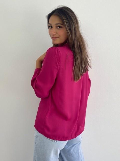 Sarhia bavet blouse Fushia-3