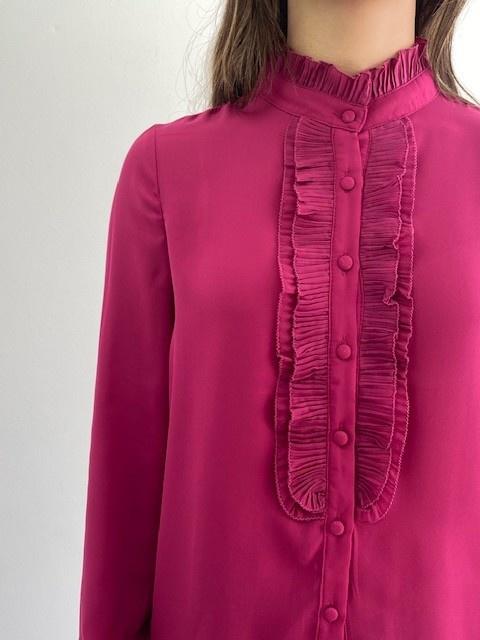 Sarhia bavet blouse Fushia-2
