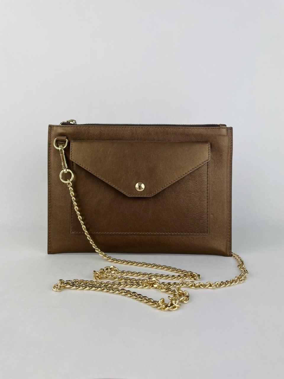 Franca calf leather poche Metalic Bronze-1