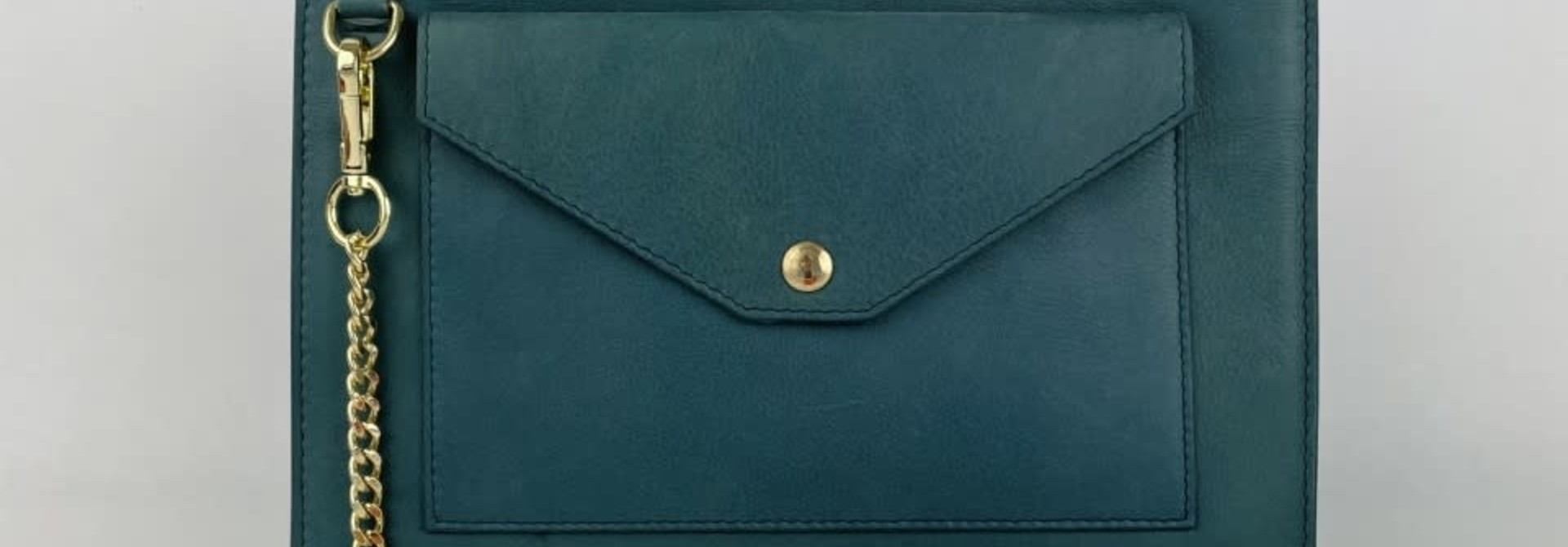 Franca calf leather poche Petrol