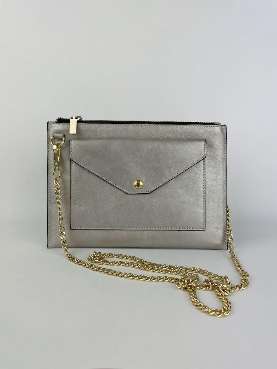 Franca calf leather  poche Metalic Silver-1